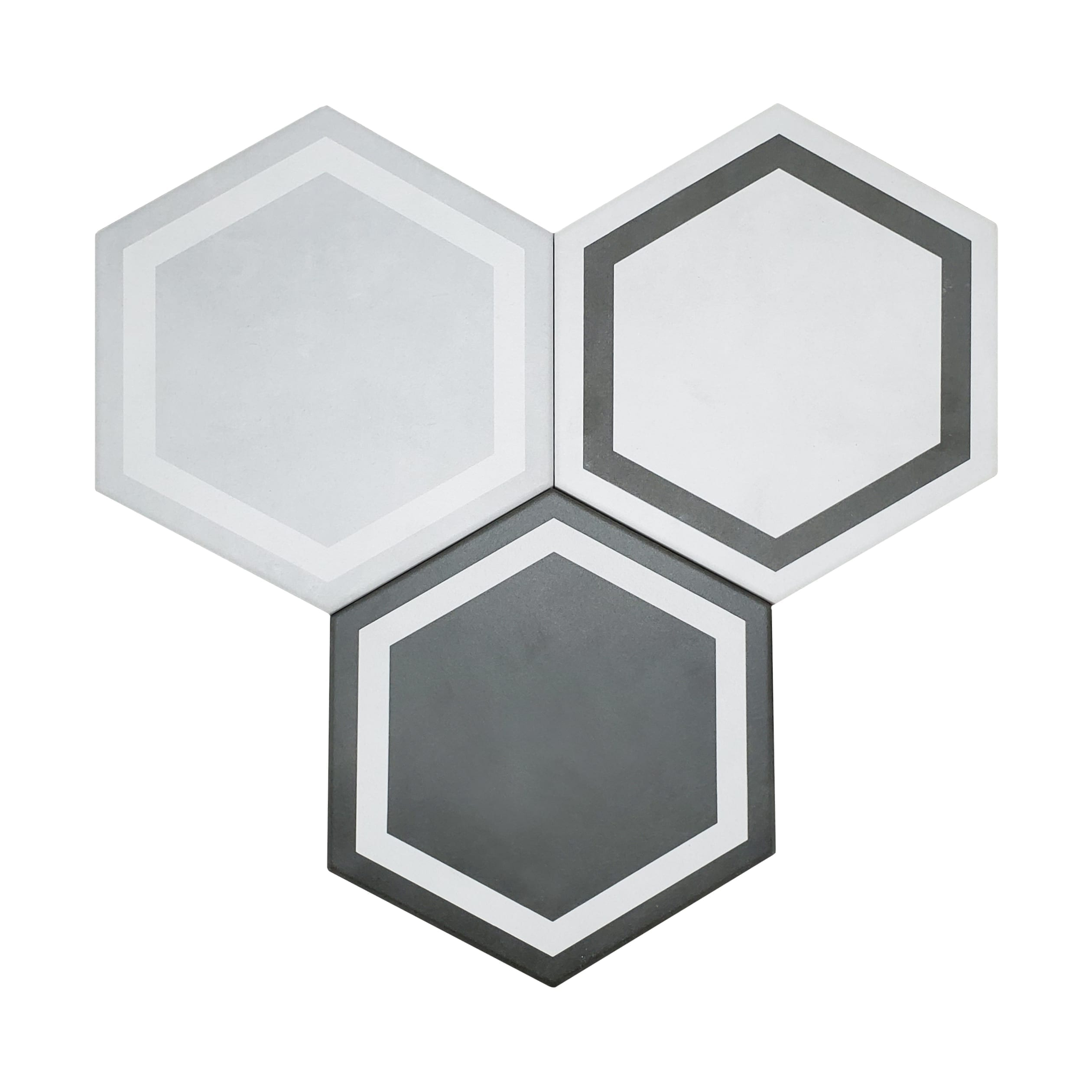 7×8 Form Hexagon Wall or Floor_GraphiteMix-3.89