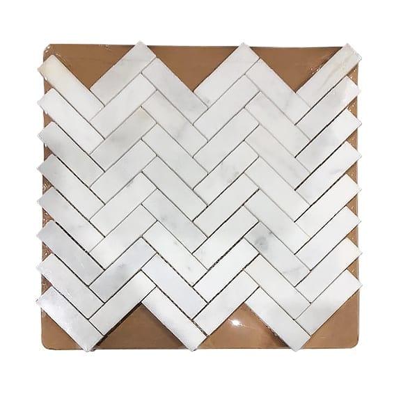 1x3in Herringbone Mosaic_Bianco_8.99