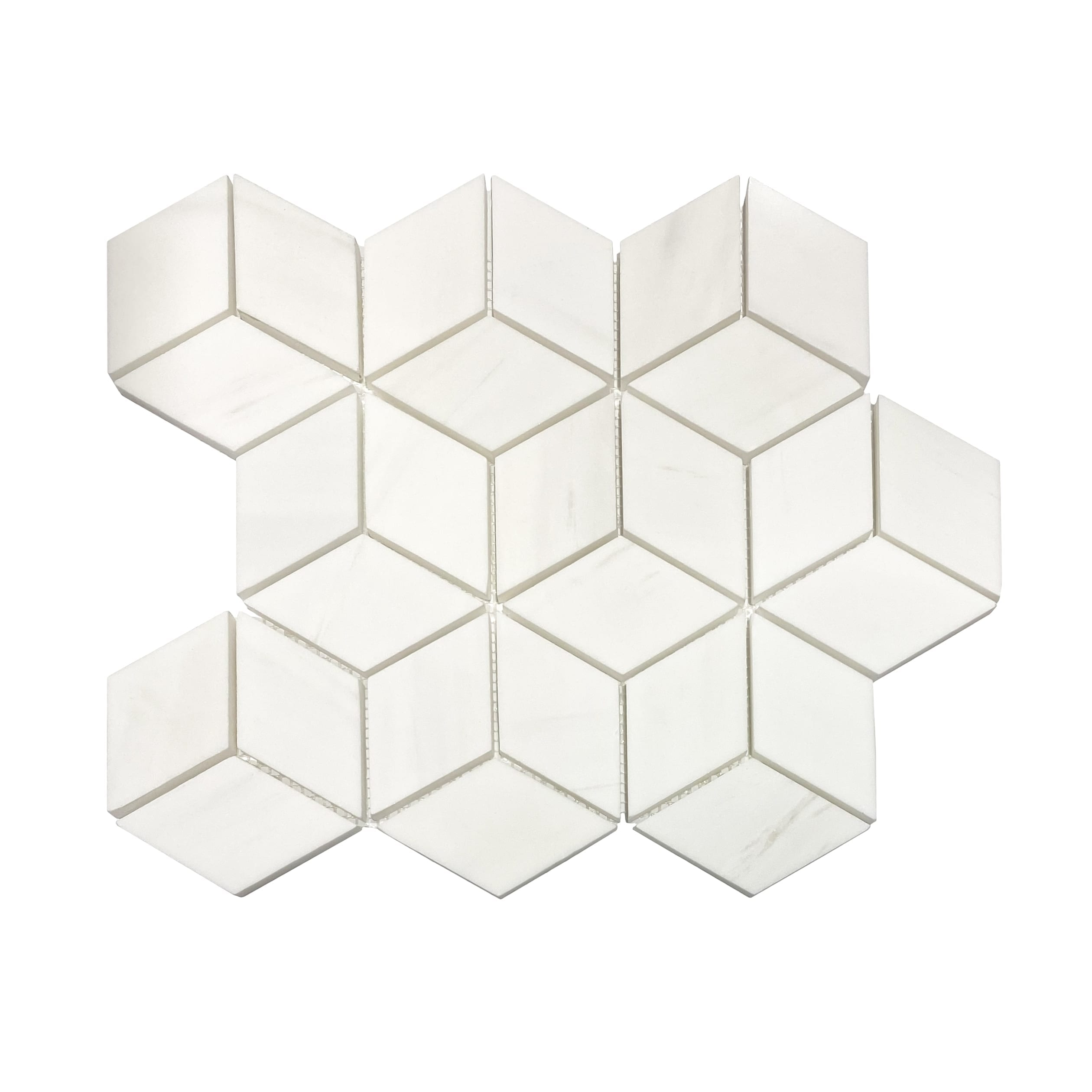 2×2 3D Polaris Polished Marble Mosaic_Dolomite_12.99ea