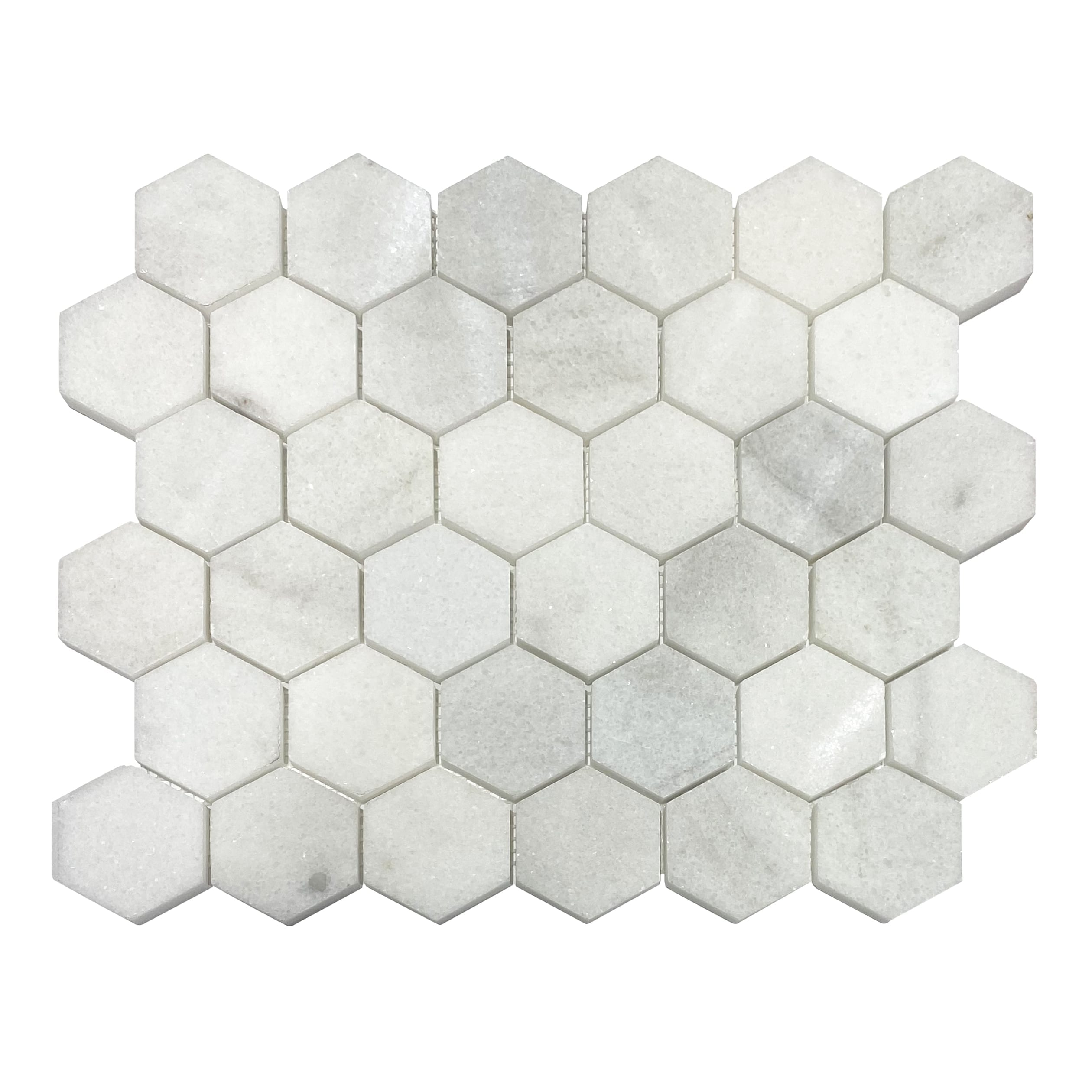 2×2 Hexagon Mosaic Tile_Bianco Marble_8.99ea
