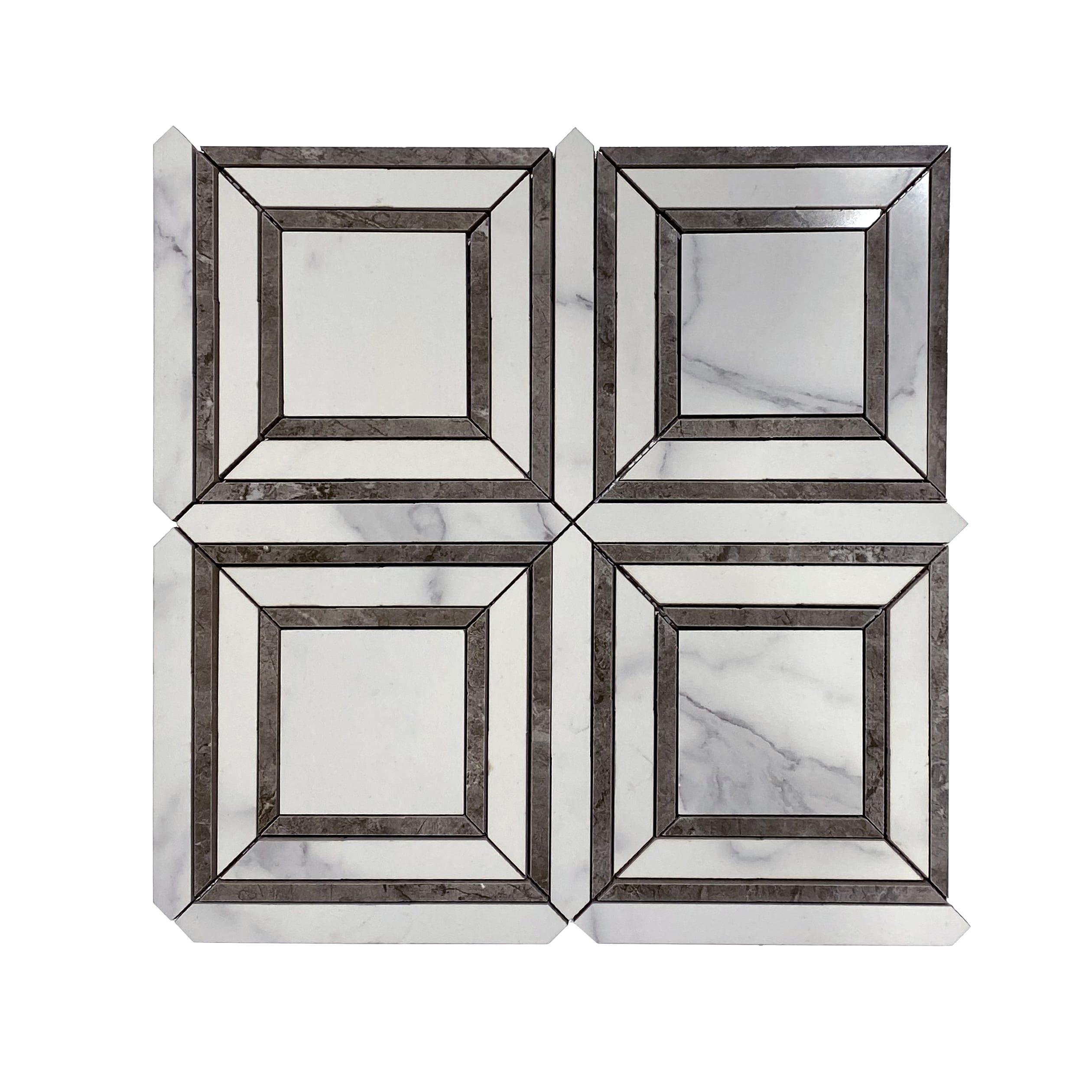 Frame&Border Polished Marble Mosaic_Statuario_11.49ea