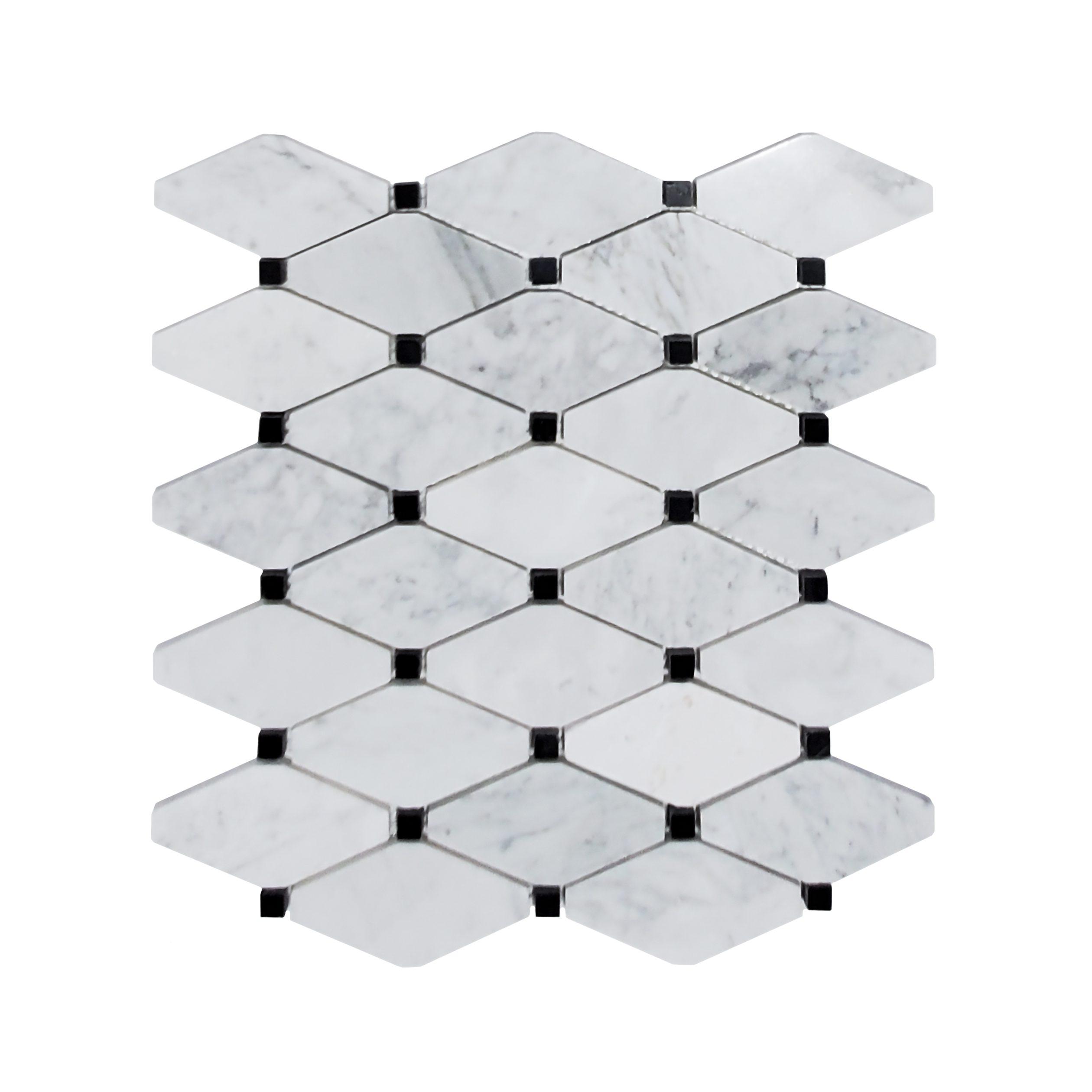 Clipped Diamond Mosaic_Carrara_20.39r_11.99
