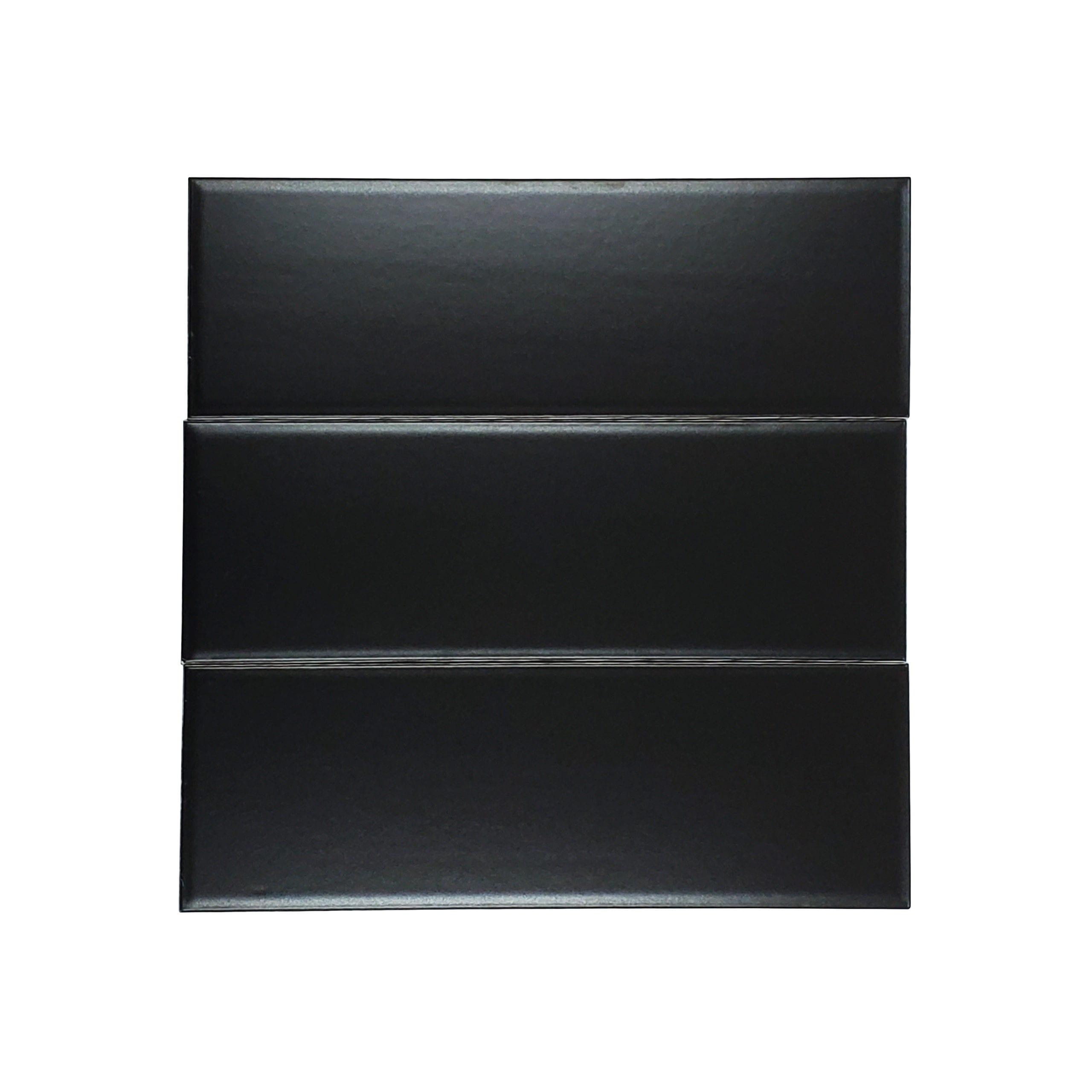 4×12 Flat Glossy Subway Tile_Black_10.33sfct_3.49_2.29