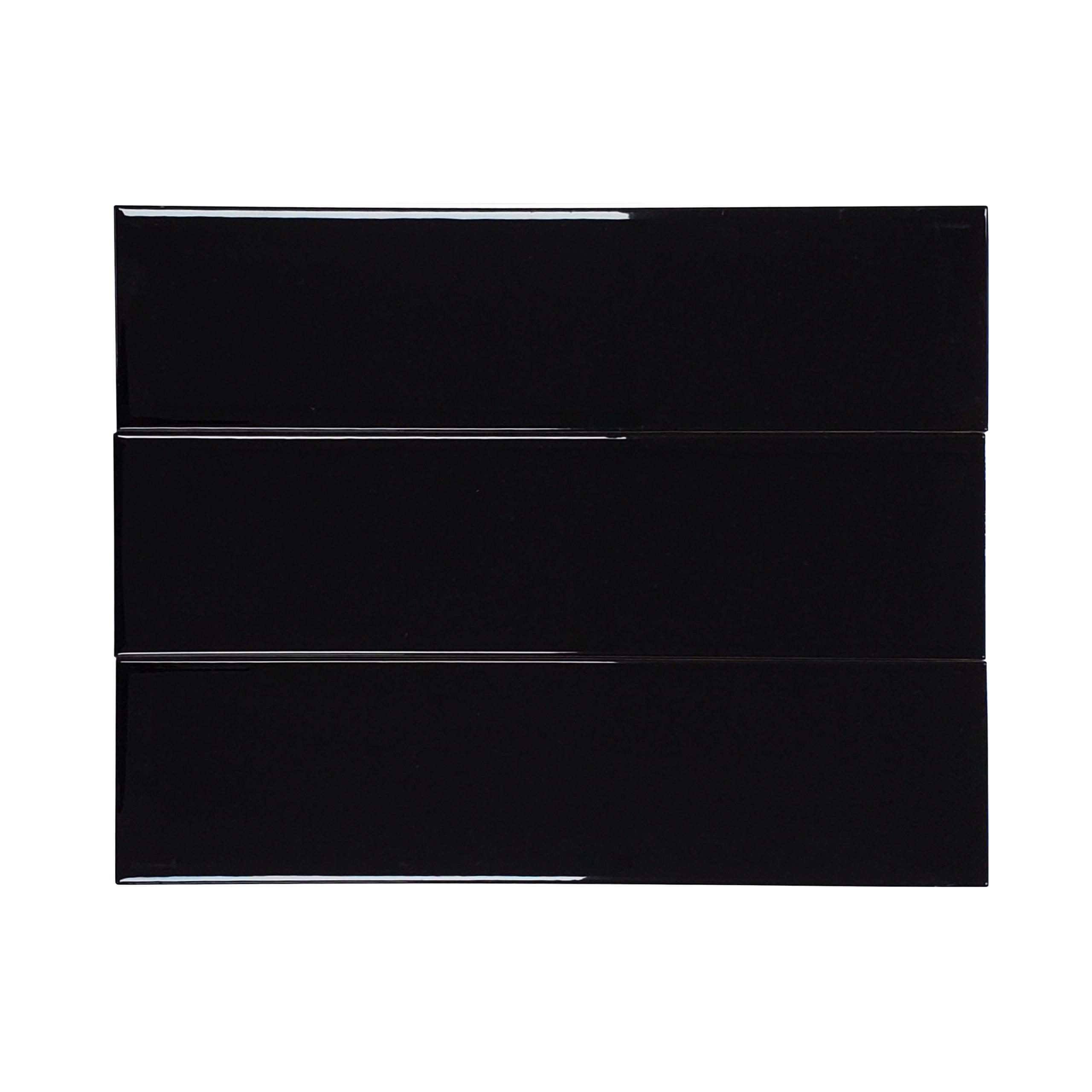 4×16 Flat Glossy Subway Tile_Black_10.33sfct_3.49_2.29