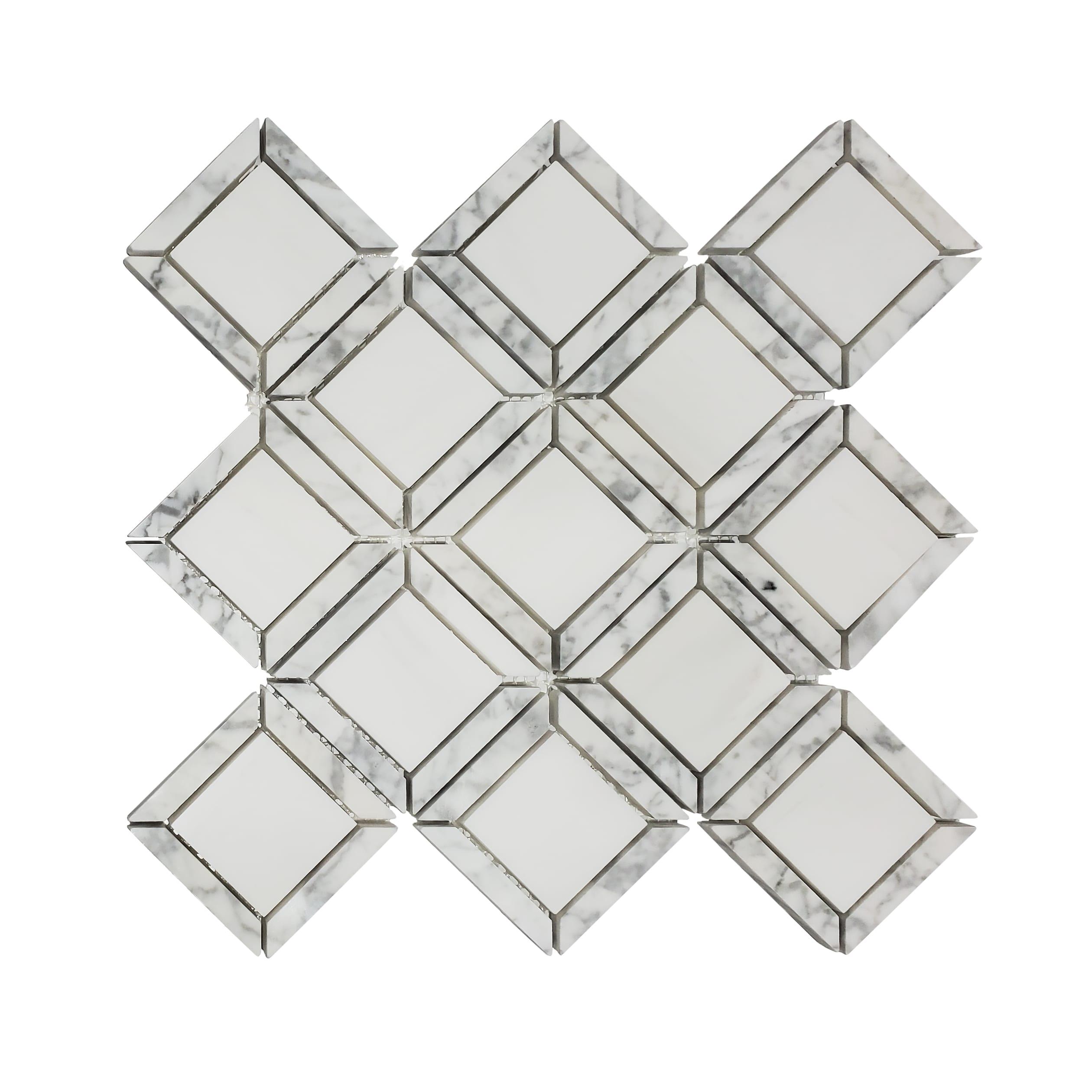 2×2 Quadro Art Deco_Dolomite wCarrara Frame_25.49_14.99